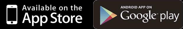 App Store、Google Playロゴ